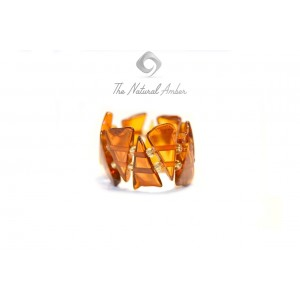 Baltic Amber Rings Strung on Elastic Bands R100