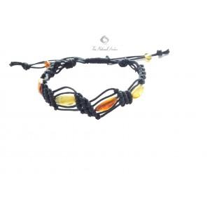 Multicolor Amber Bracelet W135