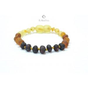 Raw Rainbow Baroque Amber Baby Bracelet S2-6BU