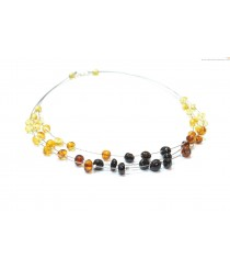 Adult Three Rows Amber Necklace N192