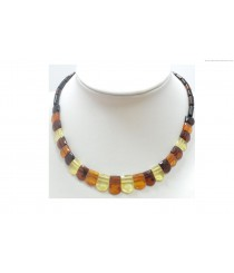 Adult Faceted Amber Necklace N203