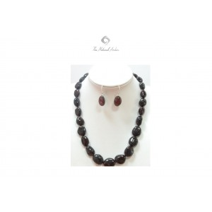 Cherry Amber Necklace and Earrings Set ST130