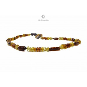 Baroque Olive (Bean) Amber Adult Necklaces A20