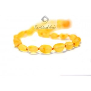Raw Olive Amber Teething Necklaces B10