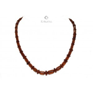 Adult Cognac Faceted Amber Necklace N145