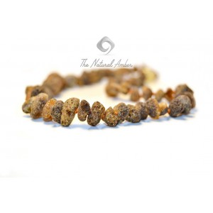 Raw Amber Chips Teething Necklaces B13