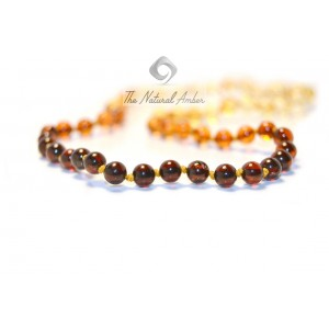 Round Amber Beads Necklaces for Baby B14