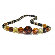 Adult Faceted Multicolor Amber Necklace N228