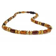 Cylinder Amber Adult Necklace N240