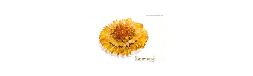 Amber Brooches